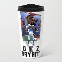Dez Bryant Caricature Travel Mug