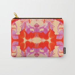 An orange marble Carry-All Pouch