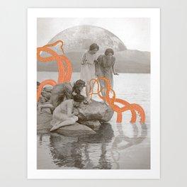 Doris' Daughters and the Kraken Art Print