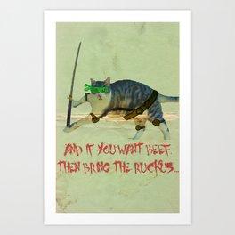 Jimmy Ninja 2 Art Print