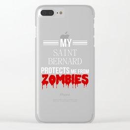 Halloween Zombie SAINT BERNARD Clear iPhone Case