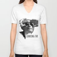 putin V-neck T-shirts featuring Putin by Valentina