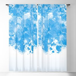 paint splatter on gradient pattern bbwb Blackout Curtain