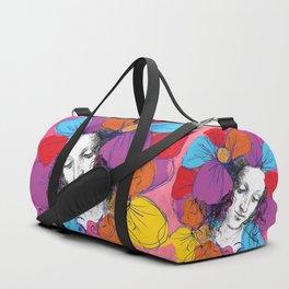 The encounter between Renaissance and Pop Art Duffle Bag