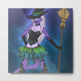 Foxy Witch Metal Print
