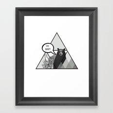 oh baby Framed Art Print