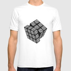 qr cube Mens Fitted Tee White MEDIUM