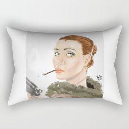 Sexy gangsta woman Rectangular Pillow
