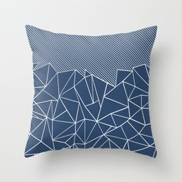 Ab Lines 45 Navy Throw Pillow