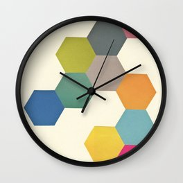 Honeycomb I Wall Clock