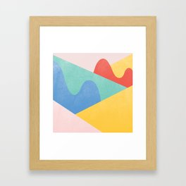 Mountains Bumps Framed Art Print