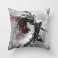 thor Throw Pillows featuring Thor by Wisesnail