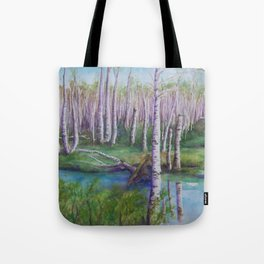 Crossing the Swamp WC151101-12 Tote Bag