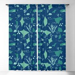 Stingrays Pattern Blackout Curtain