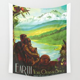 NASA Visions of the Future - Earth: Your Oasis in Space Wall Tapestry
