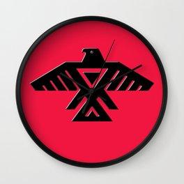 Thunderbird flag - Black on Red variation Wall Clock