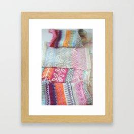 Rainbow Fair Isle Framed Art Print
