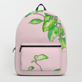 pink house plant Backpack