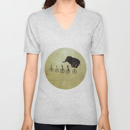 """Courage"" - Elephant On A Wire Unisex V-Neck"
