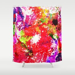 Expression Of Colour - Abstract Painting In Rainbow Colours Shower Curtain