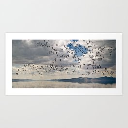 the sky is falling Art Print