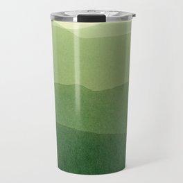 gradient landscape green Travel Mug