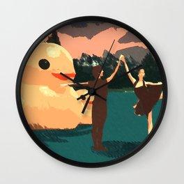 Duck Lake Wall Clock
