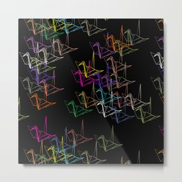 Origami Night Metal Print