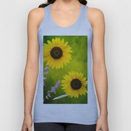 Sunflowers. Unisex Tank Top