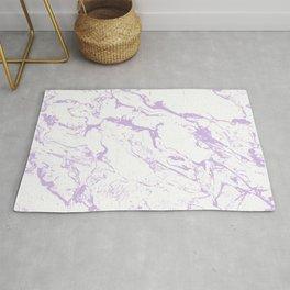 Modern trendy white pastel purple lavender marble pattern Rug