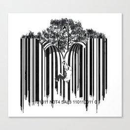 unzip the code. Canvas Print