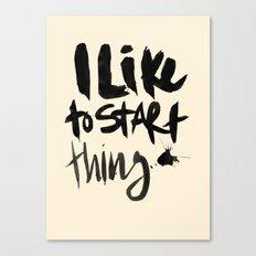 Start Canvas Print