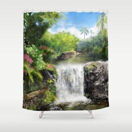 Hawaiian  Garden Shower Curtain