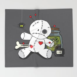 Voodoo doll shelf Throw Blanket