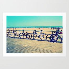 Coney Cycles Art Print