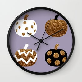 Pick a peck of purple pickled pumpkins Wall Clock