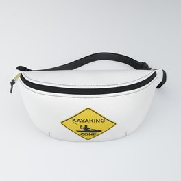 Kayaking Zone Road Sign Fanny Pack