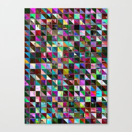 glitch color pattern Canvas Print