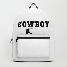 Cowboy Gift Maverick And Horse Lover Black Backpack