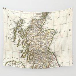 Vintage Map of Scotland (1772) Wall Tapestry