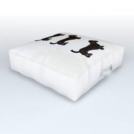 Black and Tan GO - Dachshund Trio Outdoor Floor Cushion