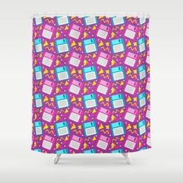 Floppy Disks Shower Curtain