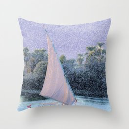 River Nile Ride Throw Pillow