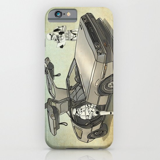 Lost, searching for the DeathStarr _ 2 Stormtrooopers in a DeLorean  iPhone & iPod Case
