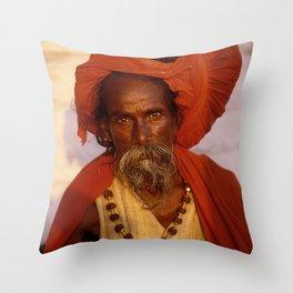 Sadhu Throw Pillow