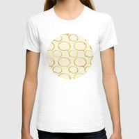 gold foil T-shirts featuring Cream Gold Foil 01 by Aloke Design