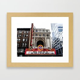 The Chicago Theatre Framed Art Print