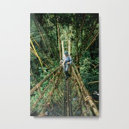 Vine Bridge of Death: Papua New Guinea Metal Print