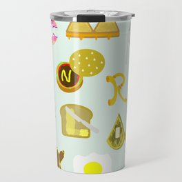 Food Font Travel Mug