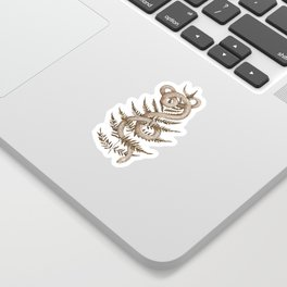 The Snake and Fern Sticker